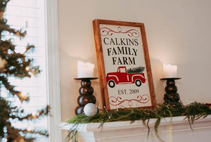 Christmas Tree Sign, Personalized Christmas Sign, Christmas Tree Personalized Sign, Farmhouse Christmas Sign