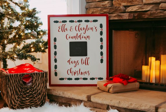 advent calendar christmas countdown christmas advent calendar rustic christmas countdown personalized christmas