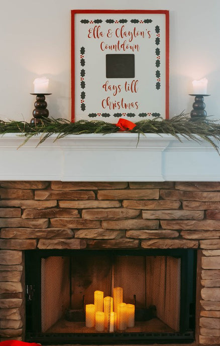 Advent Calendar, Christmas Countdown, Christmas Advent Calendar, Rustic Christmas Countdown, Personalized Christmas Decorations, Advent Kit
