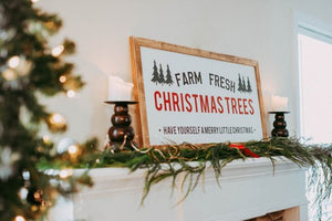 Christmas Tree Sign | Fresh Cut Trees Sign | Christmas Tree | Christmas Decorations |Christmas Decor | Wood Christmas Sign