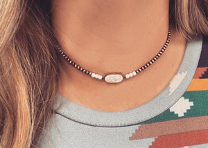 The Wynona White Choker Necklace