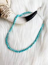 Turquoise Bead Choker Necklace
