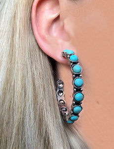 Gunsmoke Hoop Earrings