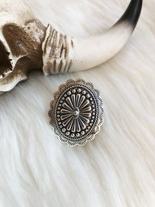 Silver Concho Ring