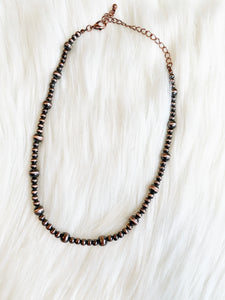 Nico Copper Navajo Pearl Choker Necklace