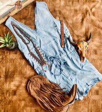 The Dusty Light Denim Romper