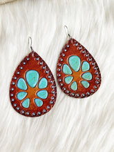 Leather Squash Blossom Earrings