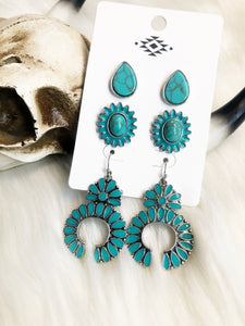 Old West Earring Trio
