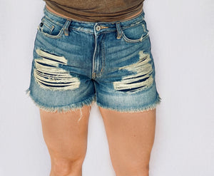 KanCan Destroyed Denim Cutoff Shorts