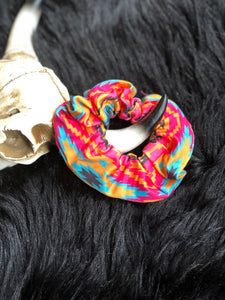 Aztec Hair Scrunchie