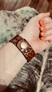 Tooled Leather Bracelet
