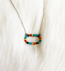 Huxley Turquoise Beaded Necklace