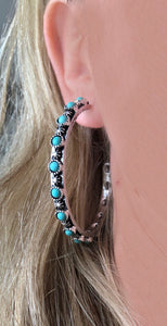 Luckenbach Western Hoop Earrings