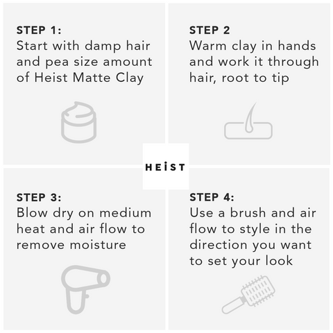 Matte Clay by Heist Labs Step by Step