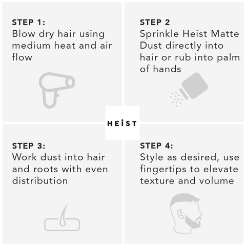 Heist Labs Matte Dust - Step by Step