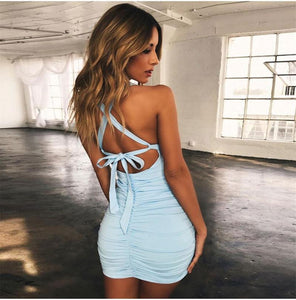 2 Layers Cut Out Bodycon Mini Dress