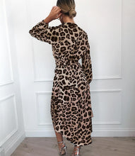 Long Sleeve Leopard Maxi Dress