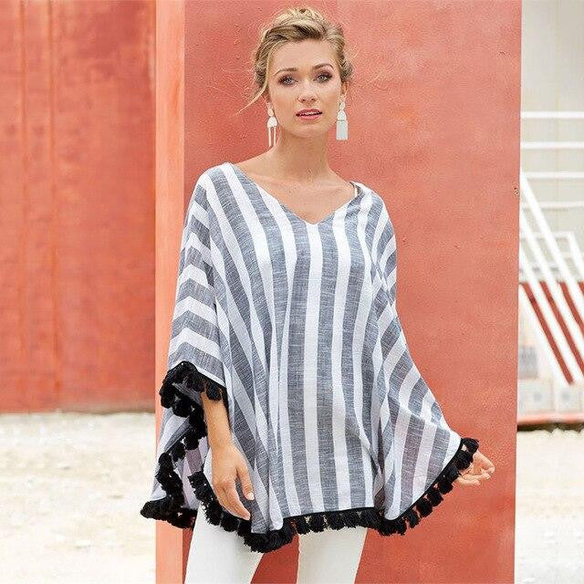 Loose Striped Blouse