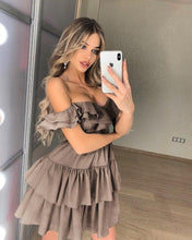 Off Shoulder Ruffles Mini Dress