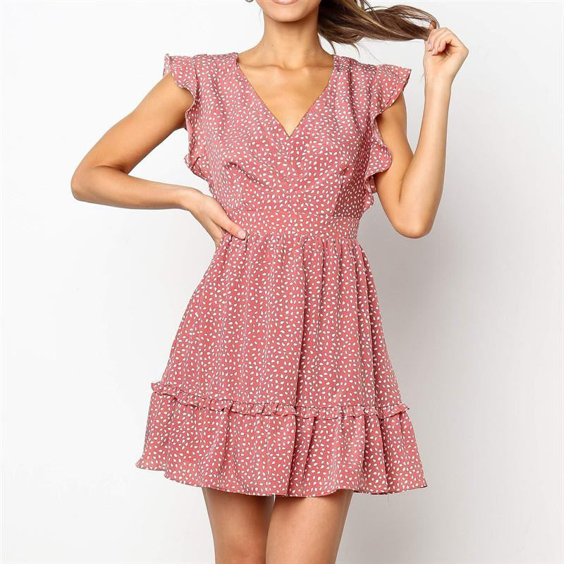 Sleeveless Polka Dot Mini Dress