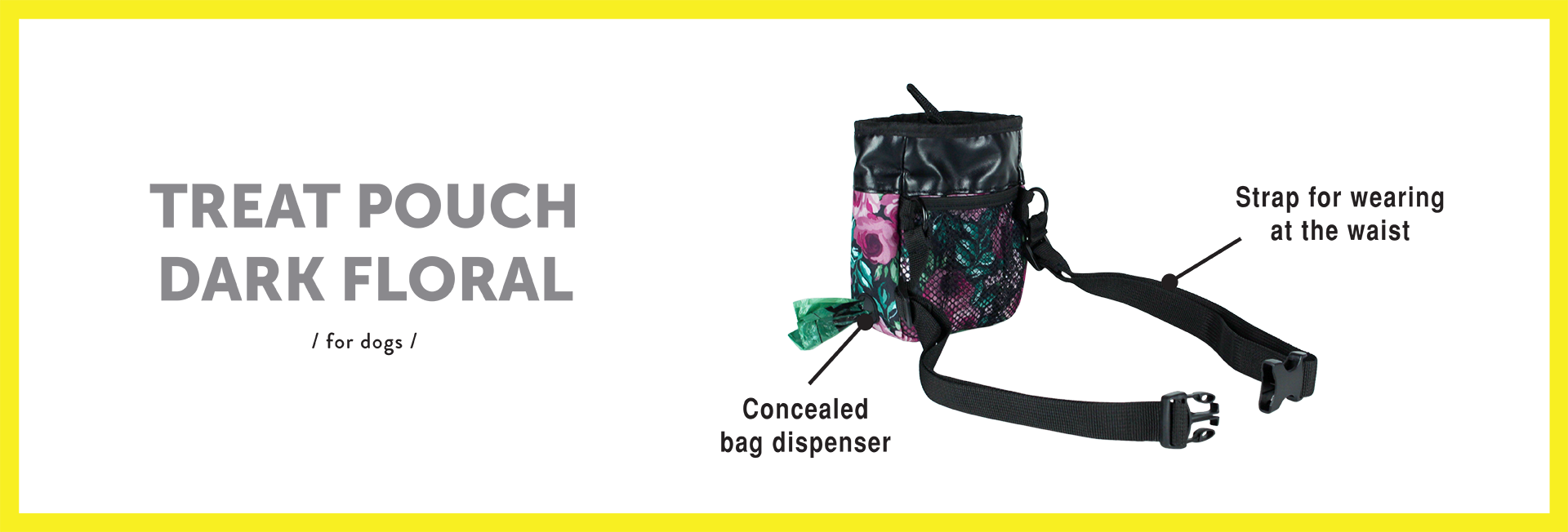 bag-dispenser-treat-pouch-dark-floral-for-dogs-english