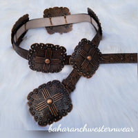 Zia Copper Concho Belt