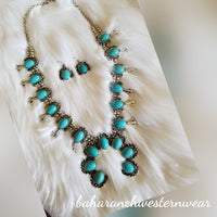 The Jackson Turquoise Squash Blossom Necklace