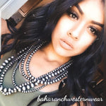 The Roxy 5 Strand Navajo Pearls Necklace Set