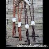 The Laredo Leather Bolo Necklace
