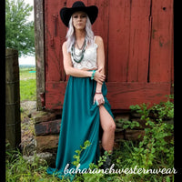 Green Acres Maxi Skirt- Small