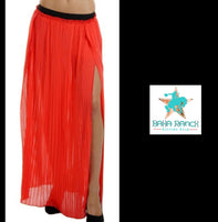 Red Split Maxi Skirt