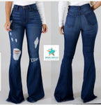 "The Joni Distressed Bells 34-35"" Inseam"