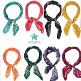 Paisley Bandana Wild Rag Neck Scarf - choice of colors