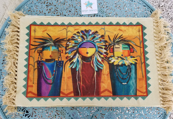 Southwestern Family  Trio Placemat. BUY 3 GET ONE FREE