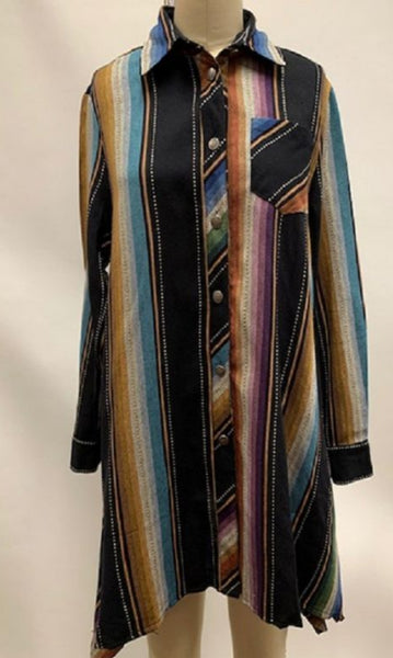 San Jose Serape Tunic Big Shirt Dress. PRE ORDER ETA 11/8/19