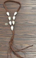Wyoming Turquoise Tassel necklace. 3 color choices