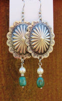 Sunburst Concho Earrings