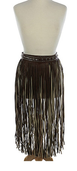 Dark Brown Fringe Belt. Pre order eta 1/26/20