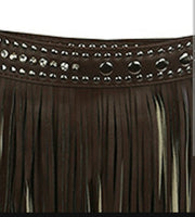 Dark Brown Fringe Belt