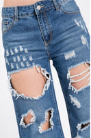 "Capetown Distressed Jeans 33"" Inseam- Size 26"