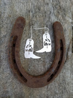 Rodeo Bronc Boot Earrings