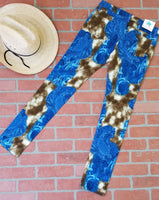 Giddy Up Cow Print & Paisley Denim Jeans