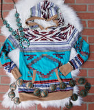 Aztec Hooded Pullover