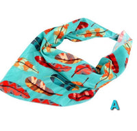 Feather Print  Scarf - Mask - Face Cover