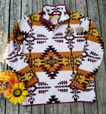 Gold Rush Aztec Fleece Pullover
