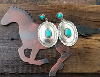 Old Mexico Stamped Concho Earrings