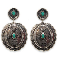 Southwestern Concho Earrings