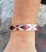 Copper Red Aztec Bracelet