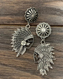Indian Concho Earrings