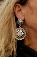 BIG Double Concho Earrings